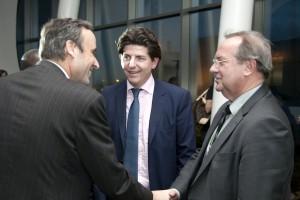 Thomas Leysen (KBC Group, Umicore); Olivier Vanden Eynde (WorldLoop, Close the Gap), Hennie Wesseling (WorldLoop - Board)