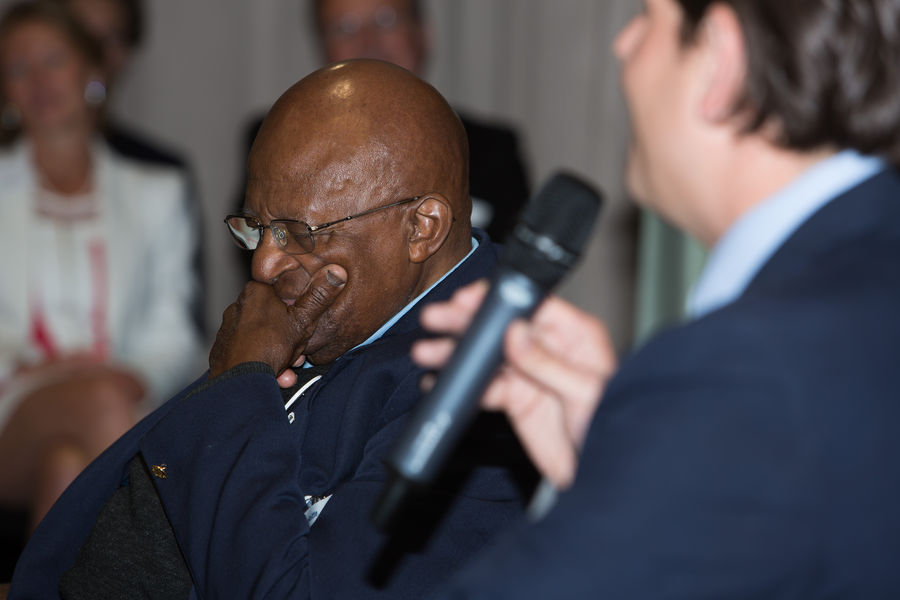 Inspirational session with Desmond Tutu in Paris