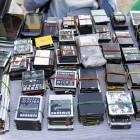 Mobile phone batteries in Kinshasa, DRC